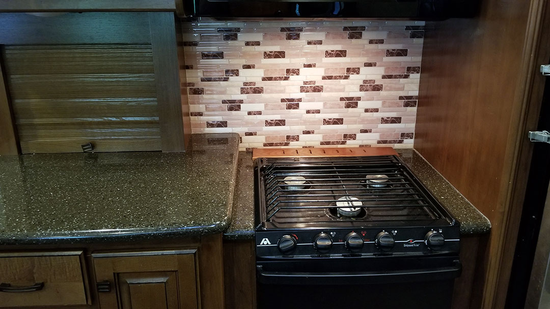 Camper Kitchen Adding A New Backsplash I Love Rv Life