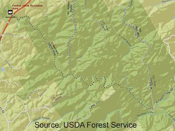 Panther Creek Falls Trail Map