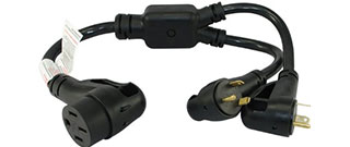 2 - 30 amp to 50 amp adapter