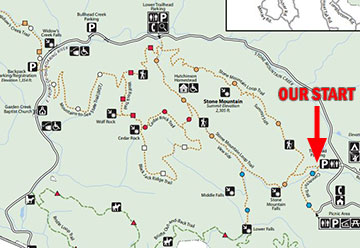 Stone Mountain State Park Trail Map